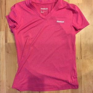 Pink Reebok running shirt